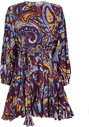 Rhode Resort Ella Paisley Poplin Mini Dress