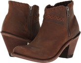 Old West Boots - Crisscross Stitch Ankle Boot Cowboy Boots