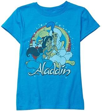 Junk Food Kids Disney Aladdin Jasmine T-Shirt (Little Kids/Big Kids) (Turquoise) Girl's Clothing