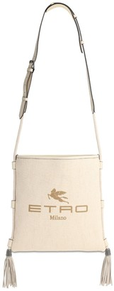 Etro Eivissa Cotton Canvas & Leather Bag