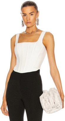 Dion Lee Pointelle Corset Top in Ivory | FWRD