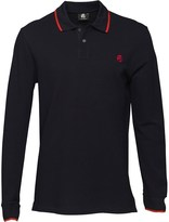 Paul Smith Mens Regular Fit Long Sleeve Polo Navy