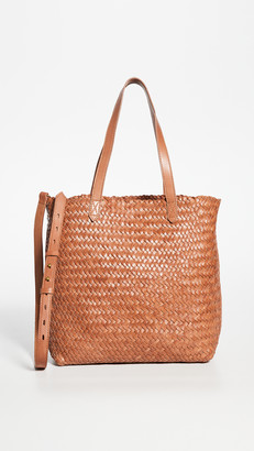 Madewell The Medium Transport Tote: Woven Leather