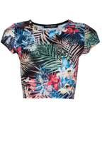 Select Fashion Fashion Womens Multi Tropical Crop Tee - size 12