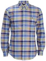Polo Ralph Lauren Men's Checked Button Down Shirt Blue