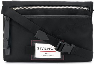 Givenchy logo-patch messenger bag