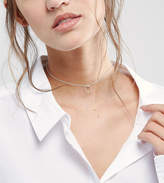 Asos Sterling Silver Ring Choker Necklace