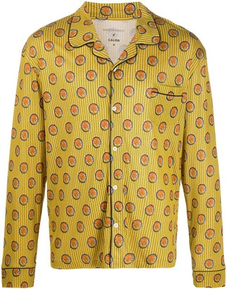 Viktor & Rolf x Calida geometric-print pyjama top