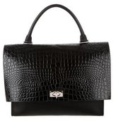 Givenchy Embossed Shark Lock Satchel