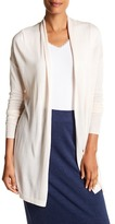 Joan Vass Long Sleeve Open Front Cardigan