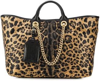 Dolce & Gabbana Leopard Printed Tote