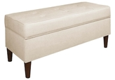 Skyline Furniture Button Tufted Storage Bench