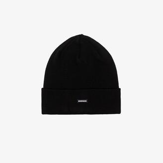 Neighborhood Black Logo Patch Beanie Hat