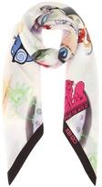 Kenzo Printed silk scarf