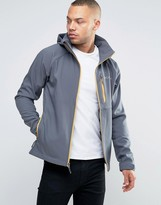 Columbia Cascade Ridge II Hooded Jacket Softshell in Graphite Gray