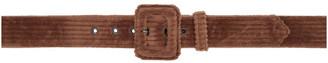 Dries Van Noten Brown Cord Buckle Belt