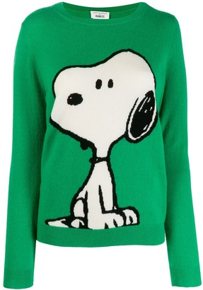 Chinti and Parker Snoopy intarsia jumper