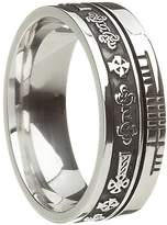 BORU Celtic Symbol Wedding Band Celtic Cross .925 Size 12.5