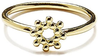 Agnes de Verneuil Silver Ring With Little Sun - Gold