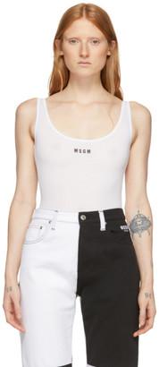 MSGM White Open Back Bodysuit