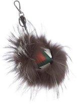 Fendi Fox Fur Watchout Bag Bug Charm