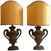 One Kings Lane Vintage,  Lamp, Blue/multi/Shade, Yellow, In Stock