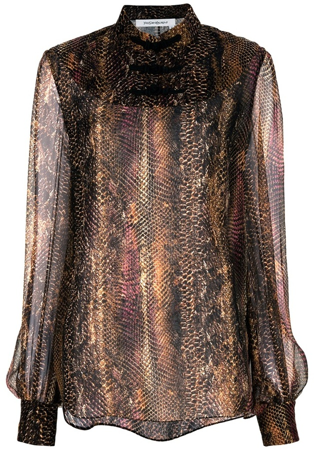 Saint Laurent Snake blouse