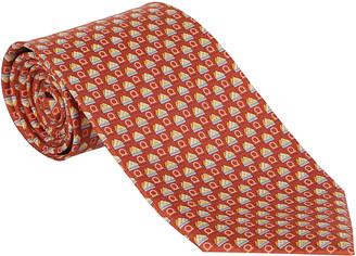 Salvatore Ferragamo Red Silk Tie