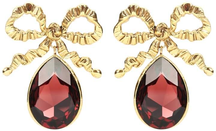 1a75a5ceb2075 Bow crystal drop earrings