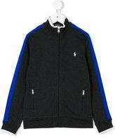 Ralph Lauren contrast-trimmed zip-up sweatshirt