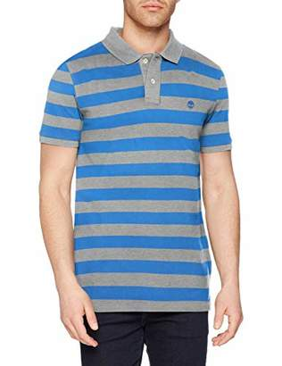 Timberland Men's Ss Millers River Pique Wide Stripe Polo Reg Shirt