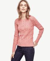 Ann Taylor Petite Aran Crewneck Sweater