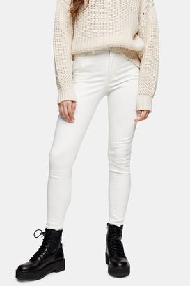 Topshop Womens Ecru Jamie Skinny Jeans - Off White