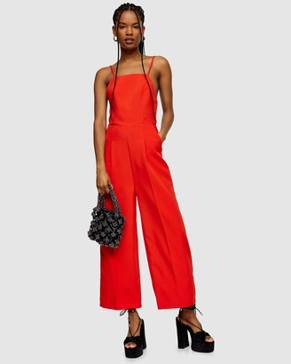 Topshop Strappy Back Jumpsuit