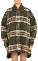 Chloé Mohair Plaid Coat