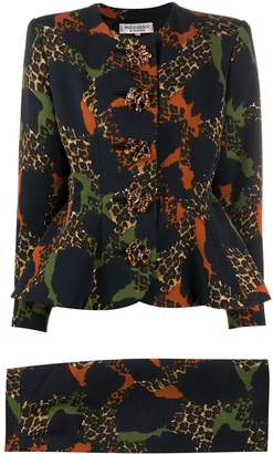Saint Laurent Pre Owned animal print two-piece suit