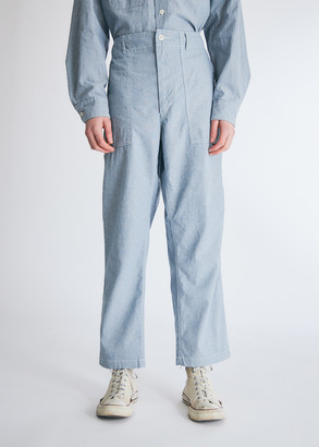 Engineered Garments Men's Fatigue Pant in Blue, Size Large | 100% Cotton