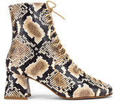 BY FAR Becca Leather Boot in Snake Print | FWRD