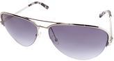 Calvin Klein Gunmetal Aviator Sunglasses - Women