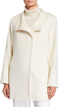 Cinzia Rocca Relaxed Car Coat, White