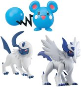 Pokemon 3 Pack Figures- Mega Absol, Azurill, Absol