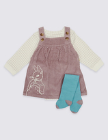 Marks and Spencer 3 Piece Peter RabbitTM Pinafore & Bodysuit with Tights