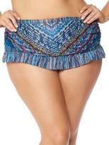 Jessica Simpson Plus Dusty Road Skirted Bikini Bottom