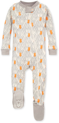 Burt's Bees Bears in the Forest Organic Baby Zip Front Snug Fit Footed Pajamas