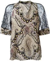 Etro lace sleeve blouse - women - Silk/Polyamide/Viscose - 40