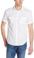 Calvin Klein Men's Short Sleeve 2 Pocket Poplin Woven