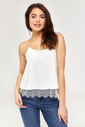 Ardene Crepe Cami with Lace