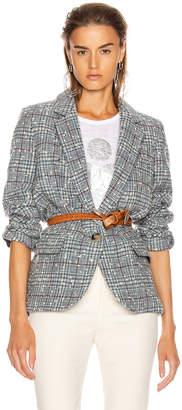 Etoile Isabel Marant Kice Blazer in Grey & Blue | FWRD