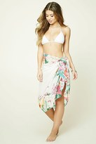 Forever 21 FOREVER 21+ Tropical Floral Swim Cover-Up