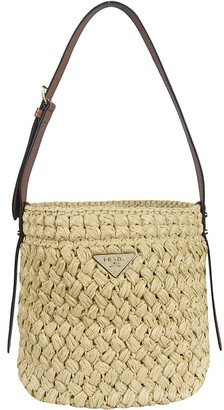 Prada Braided Bucket Bag